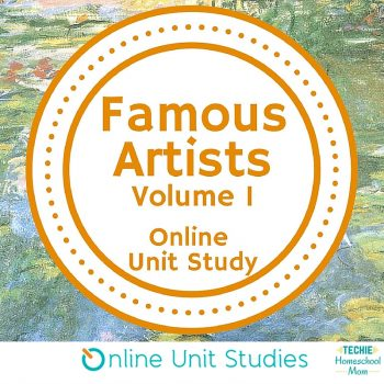 Famous Artists Volume 1 online unit study is part of the Fine Arts Course Giveaway (ends 4/7)