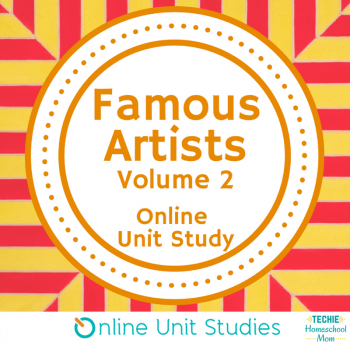Famous Artists Volume 2 online unit study is part of the Fine Arts Course giveaway (ends 4/7)