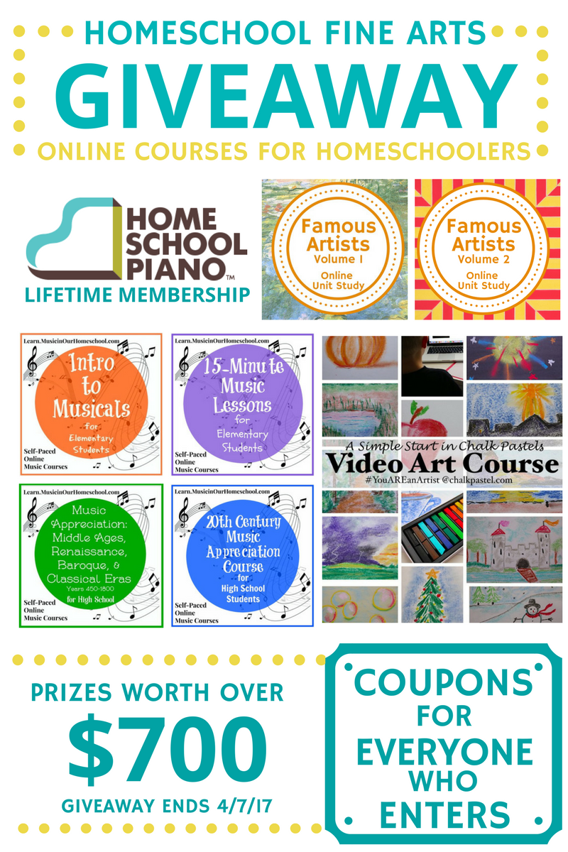 Homeschool Fine Arts Giveaway worth $700